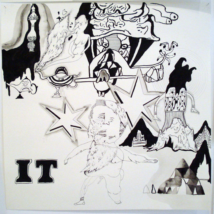 MATTHEW HOPKINS  IT (it) The Return of IT (various drawings) 2007  Sequence Memory Chart