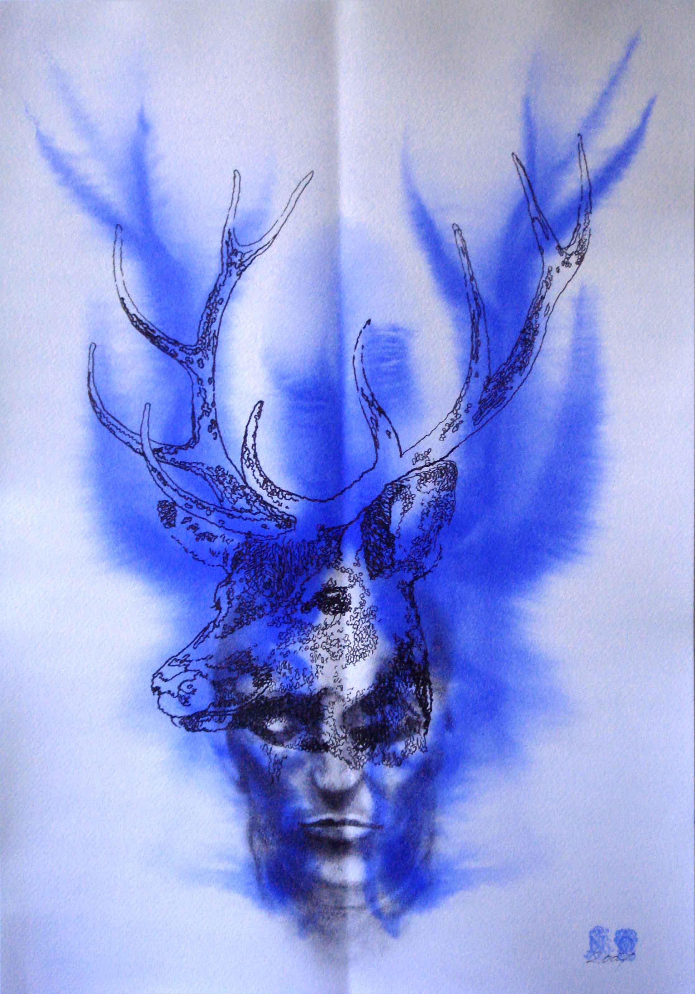 NANA OHNESORGE  Nature Studies #3    Watercolour, pencil, graphite& acrylic paint on paper 59.4 ×42 cm