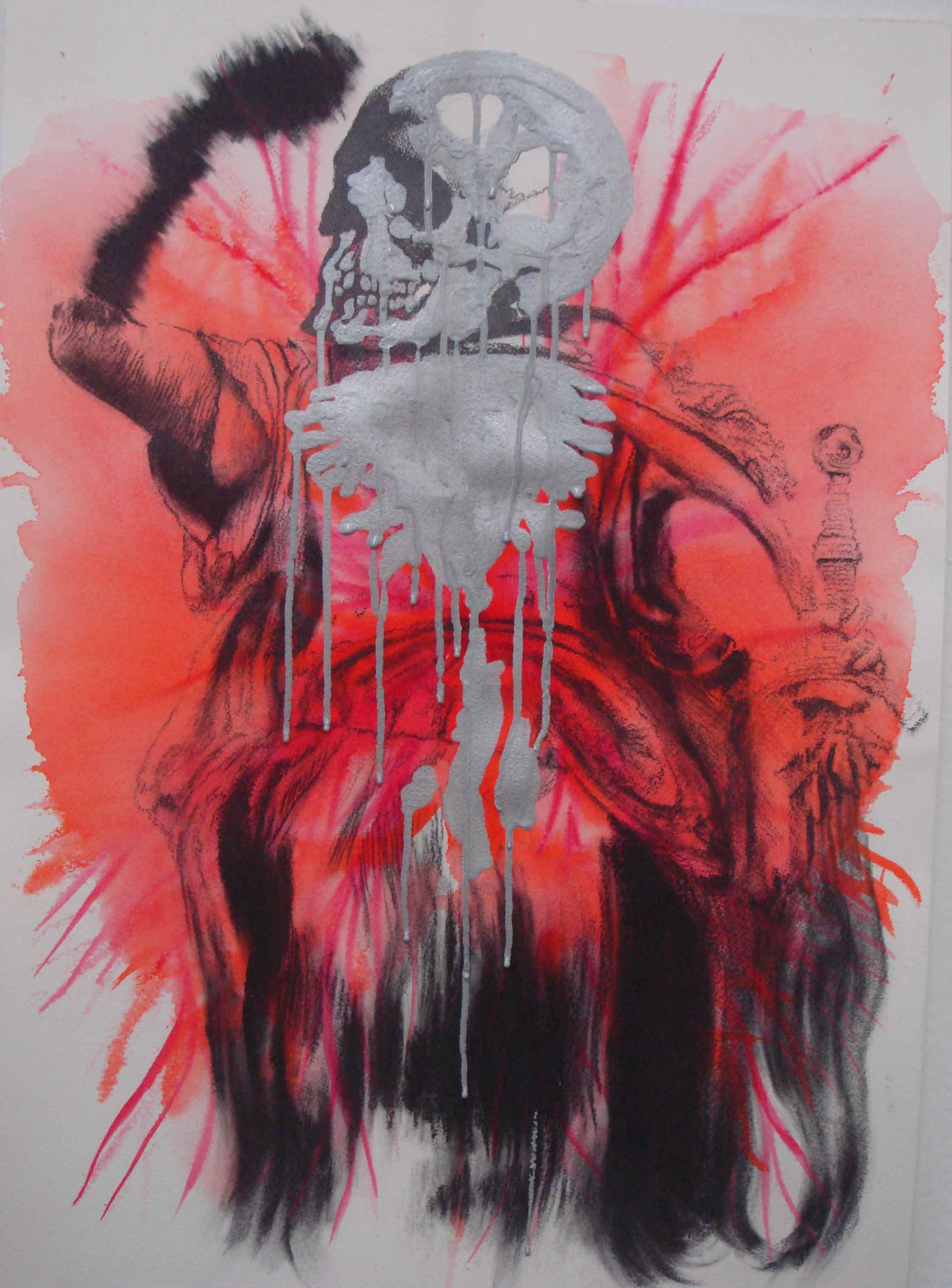 NANA OHNESORGE  Nature Studies #5    Watercolour, pencil, graphite& acrylic paint on paper 59.4 ×42 cm