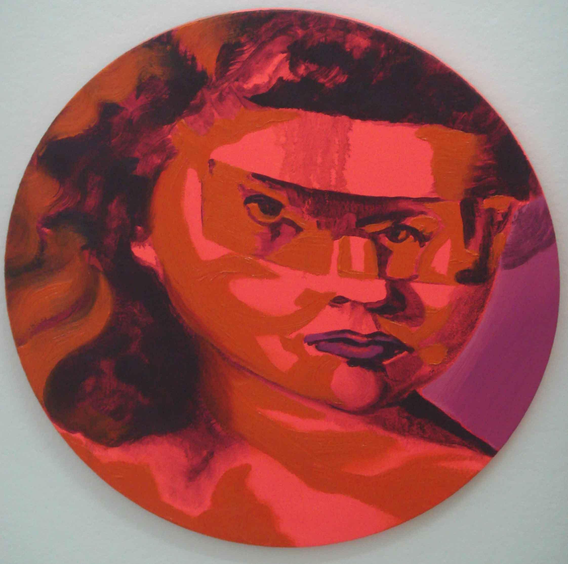 NANA OHNESORGE  Stepping Stones # 4  2006 Acrylic & oil on canvas Diameter 40.04 cm