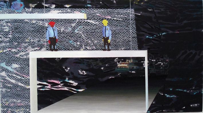 TIMOTHY PRICE  Space Precinct 2007 acrylic on canvas 74 ×133 cm
