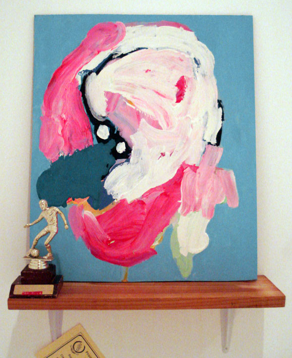 TOM POLO  There's no such thing as losing 2007 acrylic on board, found trophy & shelf