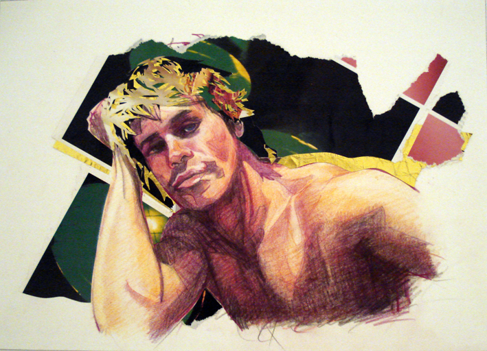 PHILL WILLIAMS  Jesse 2007  coloured pencil and collaged paper 36 ×26 cm
