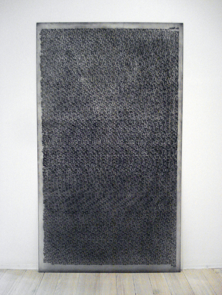 WHAT  Resignation Plate  2007 Plastic engraving/dry point (edition of 20) 173 ×100cm (each)