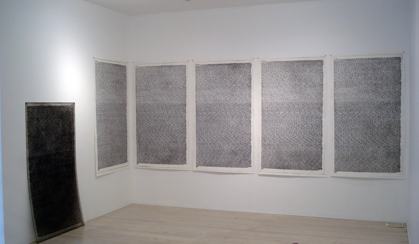 WHAT  Resignation  2007 - Installation Plastic engraving/dry point (edition of 20) 173 ×100 cm (each)