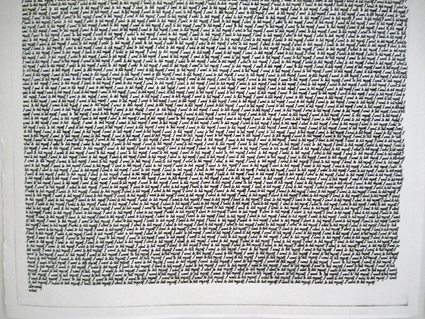 WHAT  Resignation  2007 - Detail Plastic engraving/dry point (edition of 20) 173 ×100 cm (each)