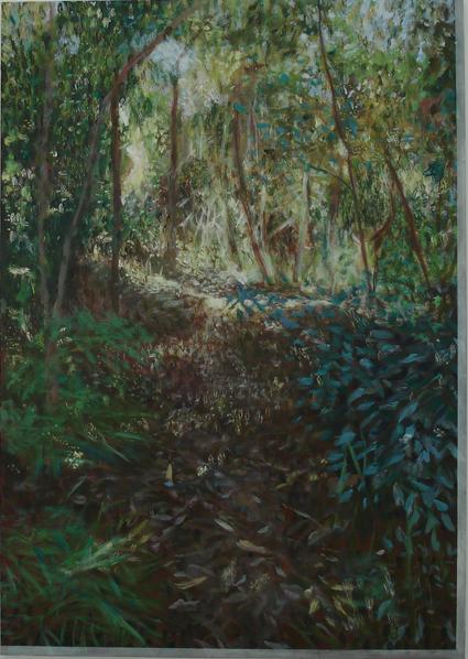 TREVELYAN CLAY  Landscape with a Land 2008  acrylic on canvas 137 ×97 cm