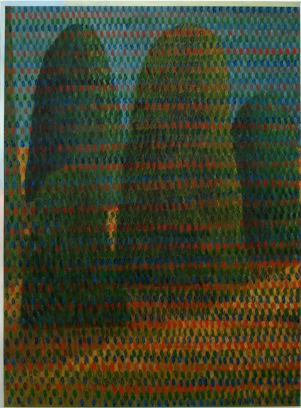TREVELYAN CLAY  Landscape with a Generational Bleed  2008 acrylic on canvas 137 ×102 cm