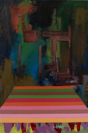 TIMOTHY PRICE  Background Midground Nice Shading Foreground 2008 acrylic on canvas 90 ×60 cm