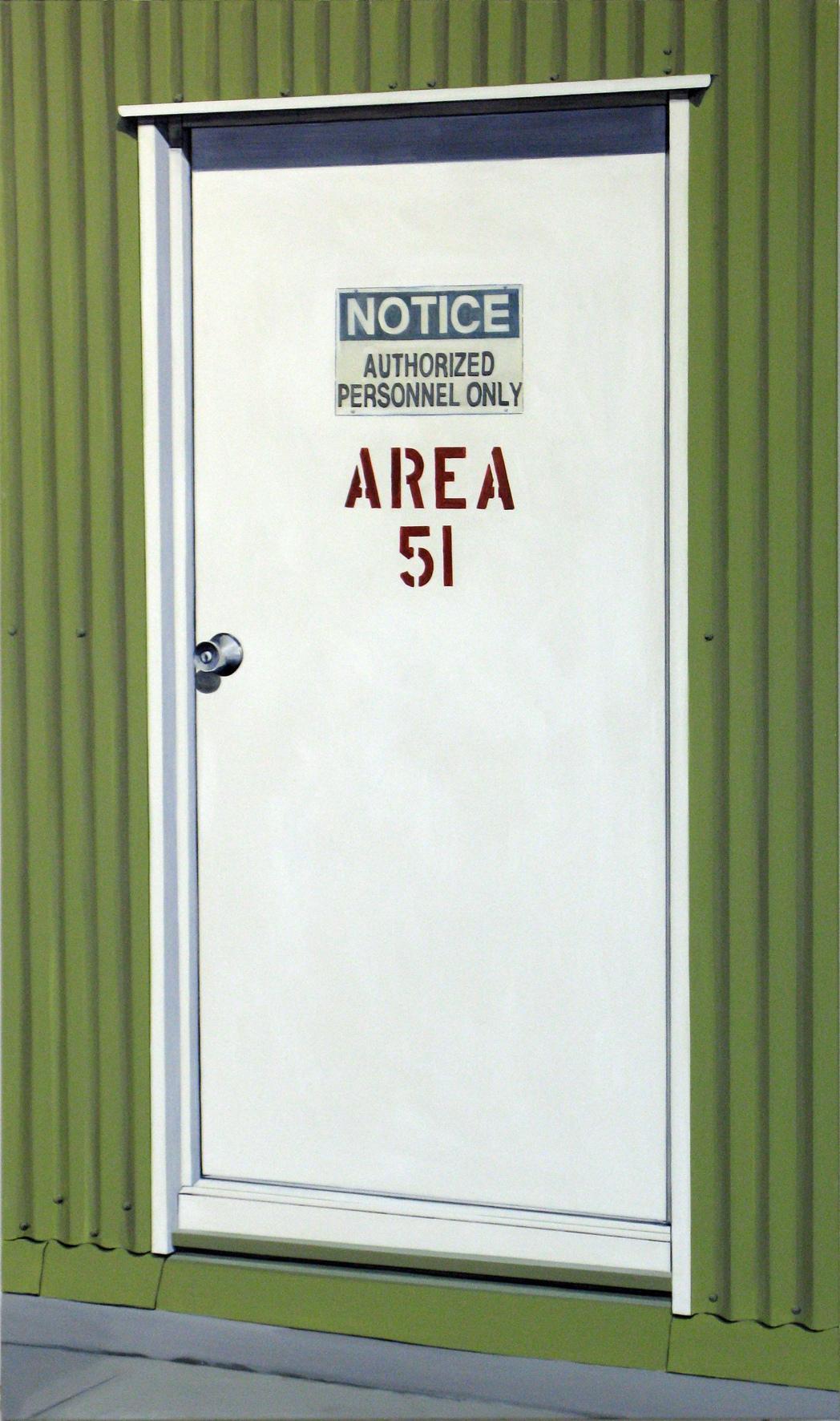 ADAM NORTON  Area 51  2010 acrylic on canvas 200 ×118 cm