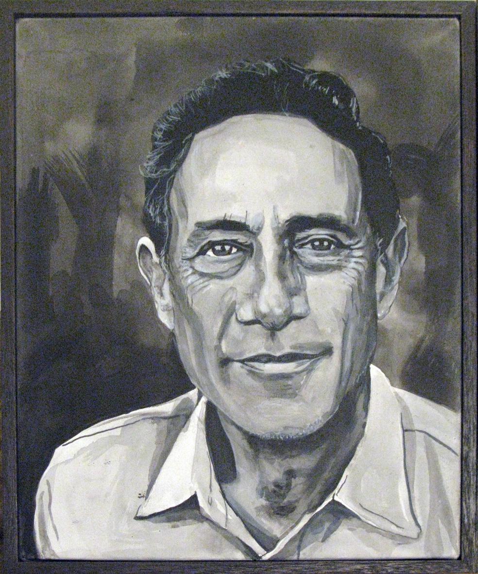 ADAM NORTON  John Mack  2010 acrylic on canvas 30 x 25 cm