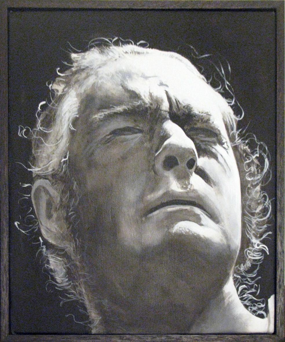ADAM NORTON  Timothy Leary 2010 acrylic on canvas 30 ×25 cm