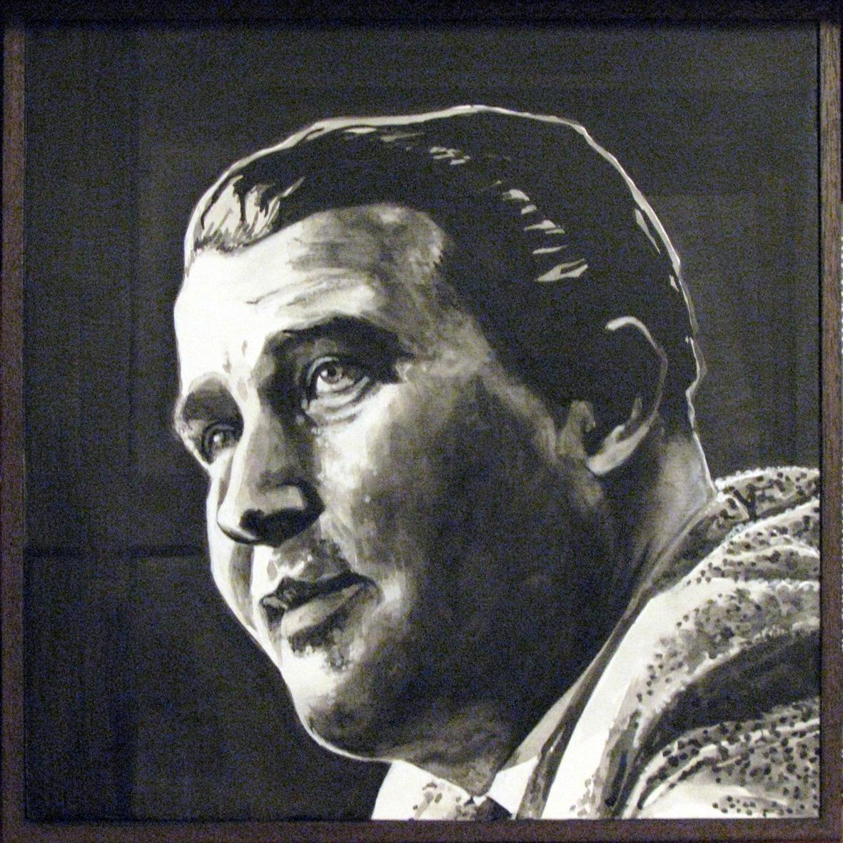 ADAM NORTON  Wernher von Braun  2010 acrylic on board 30 ×30 cm