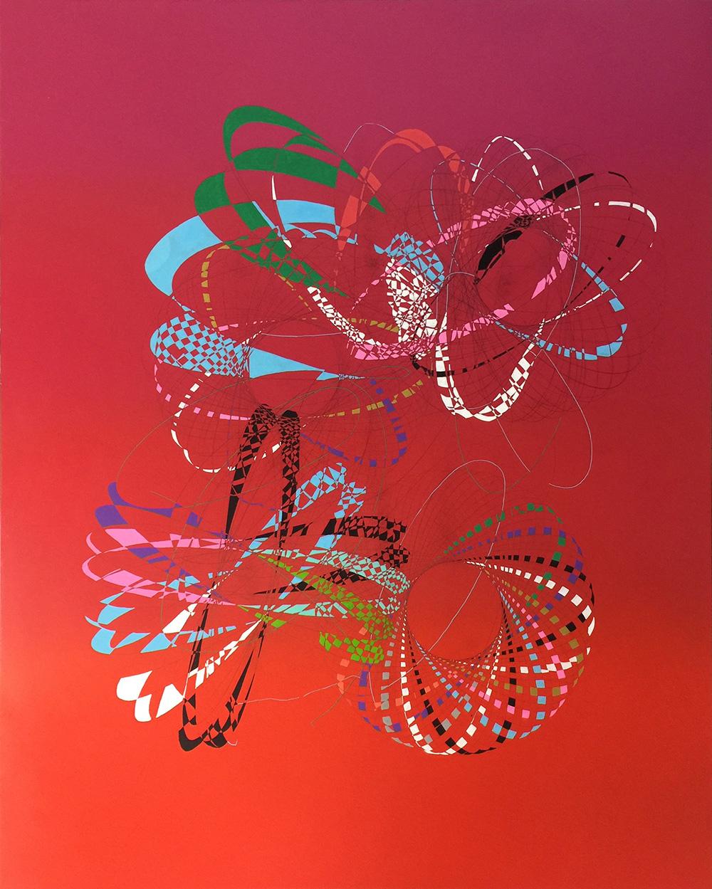 MARK TITMARSH  In-A-Gadda-Da-Vida  acrylic, pencil and resin on aluminium 110 ×90 cm