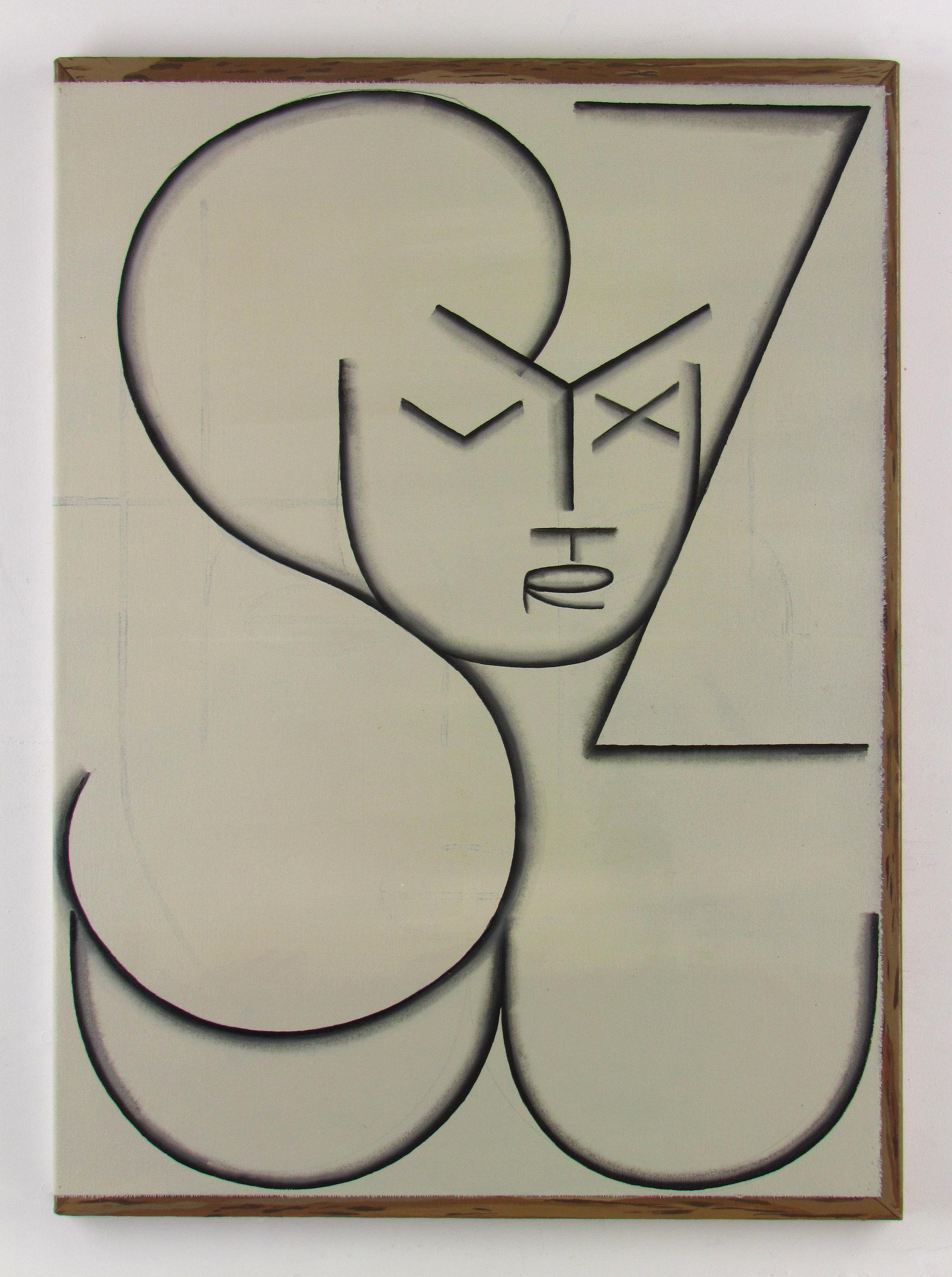 JULIAN HOOPER  STUVWXYZ  Acrylic on canvas on linen 76 ×56 cm