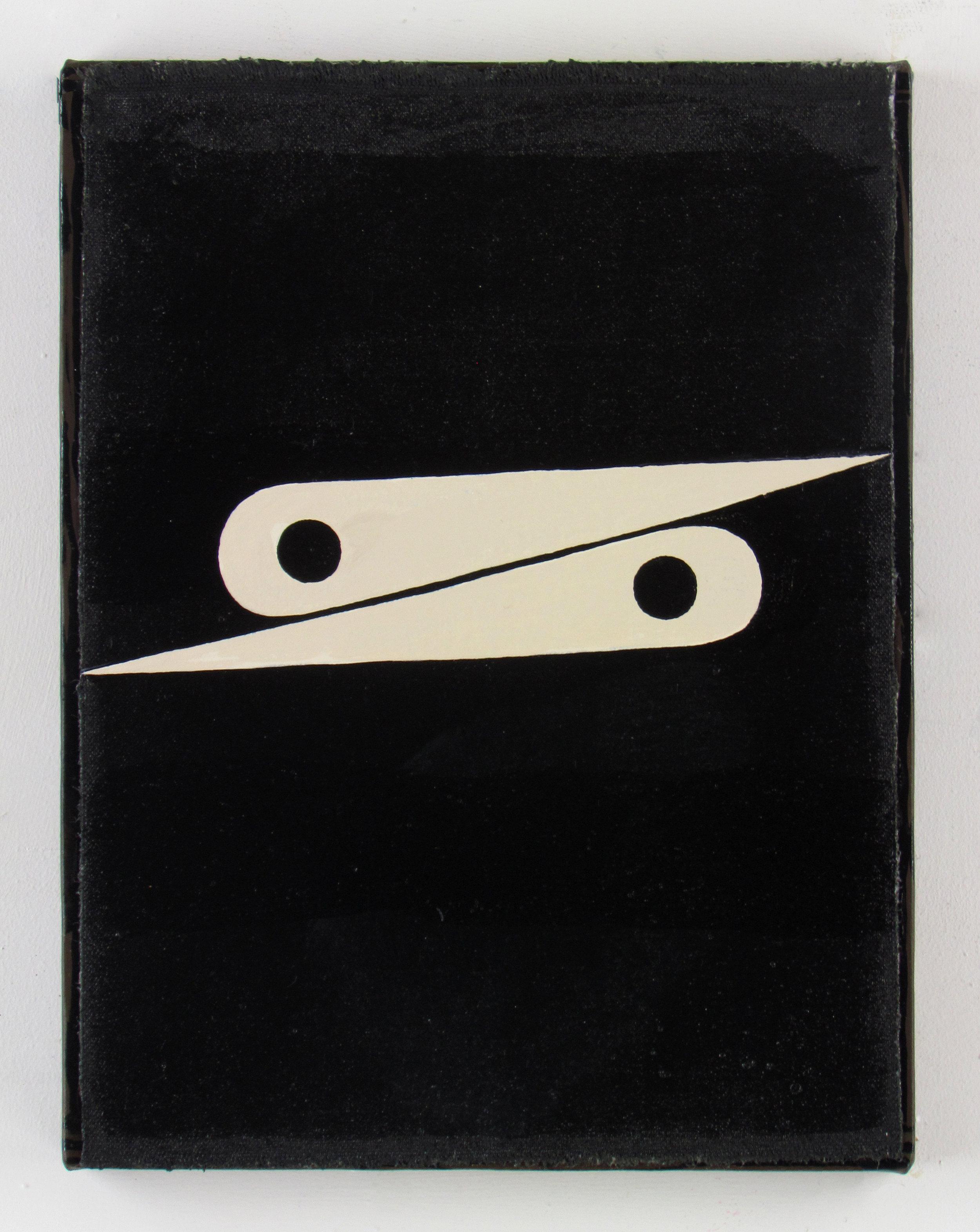 JULIAN HOOPER  Hesitation  Acrylic on canvas 33 ×25 cm