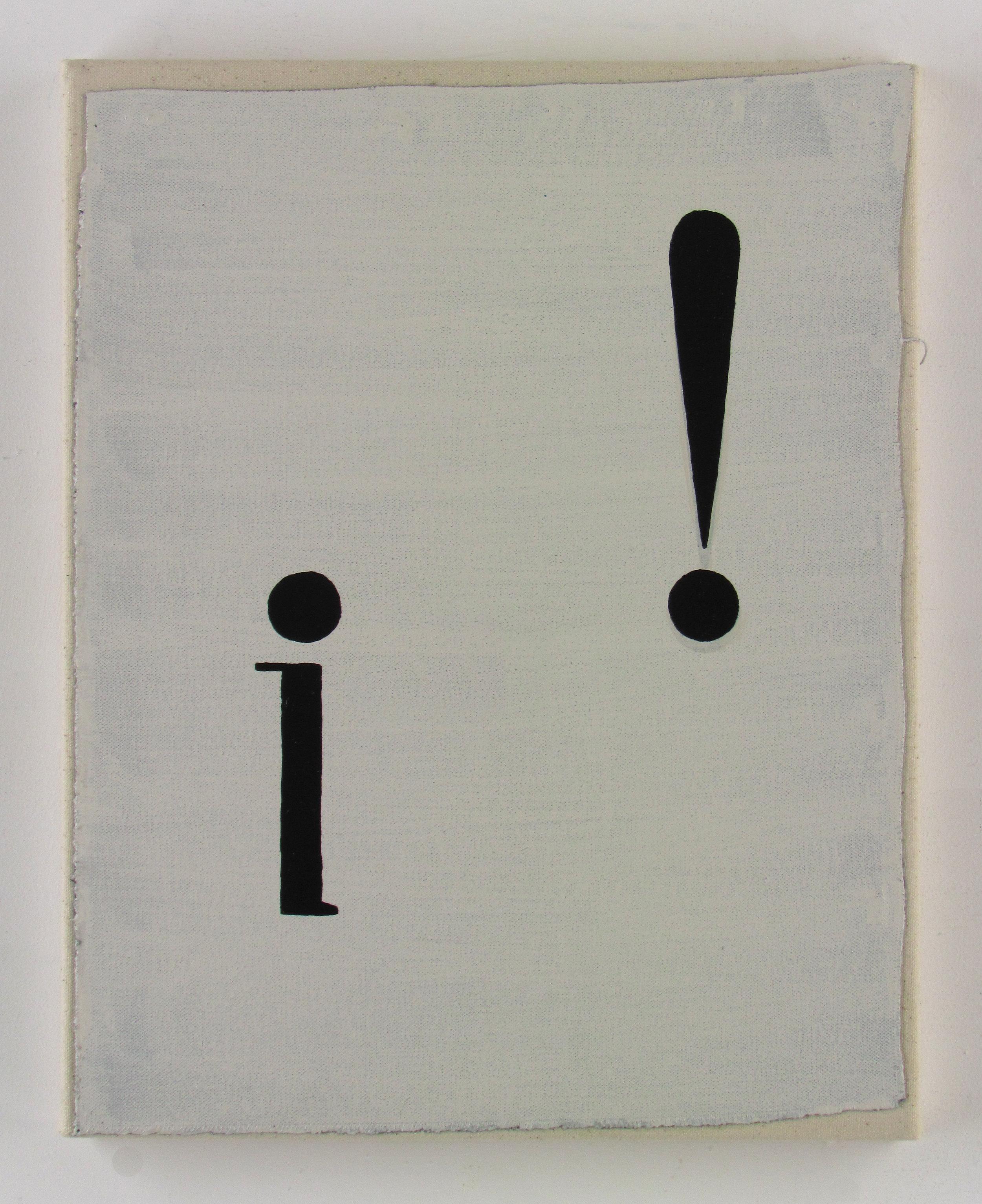 JULIAN HOOPER  i!  Acrylic on canvas 38 ×30