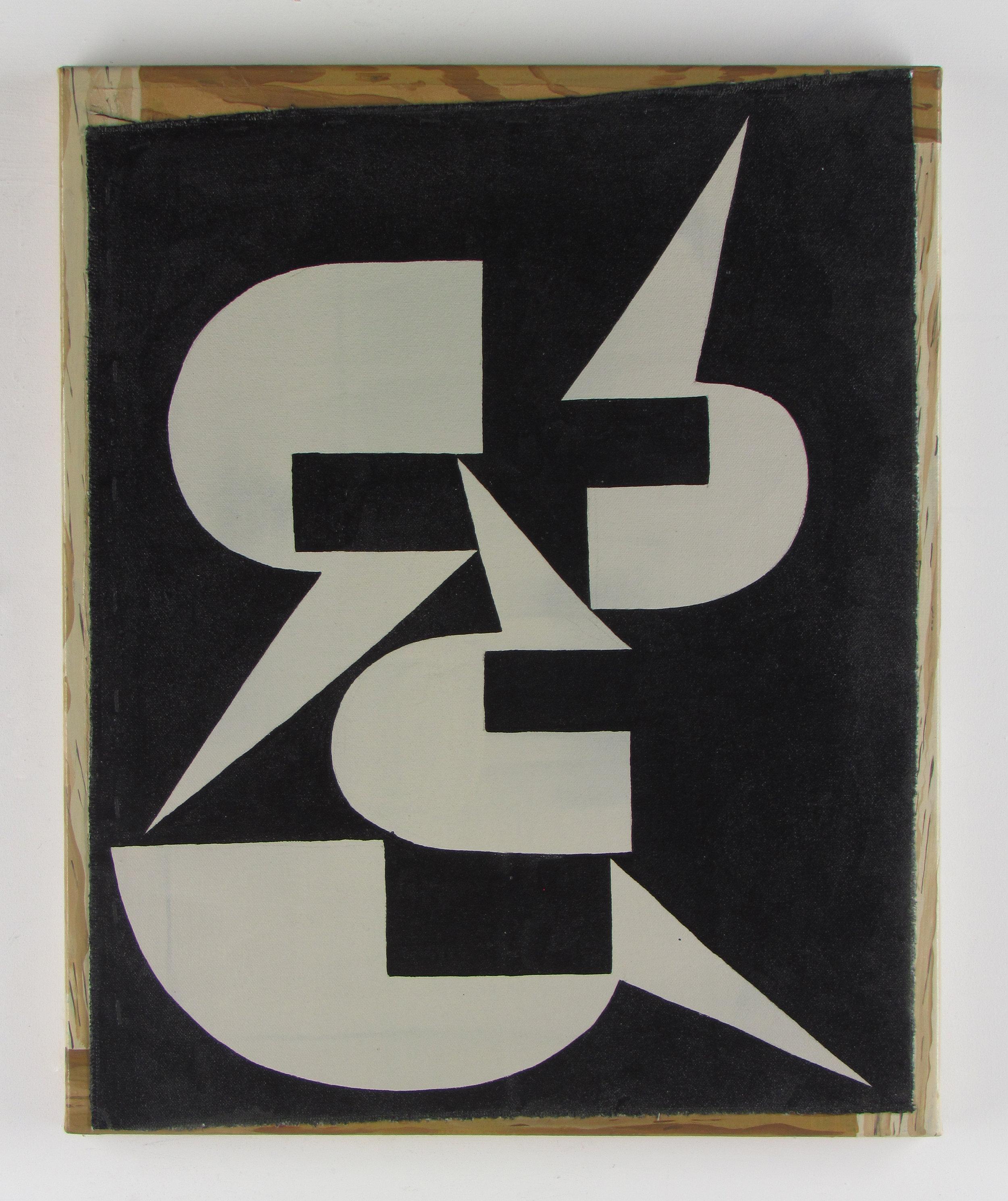 JULIAN HOOPER  Feirefiz  Acrylic on canvas on linen 56 ×46 cm