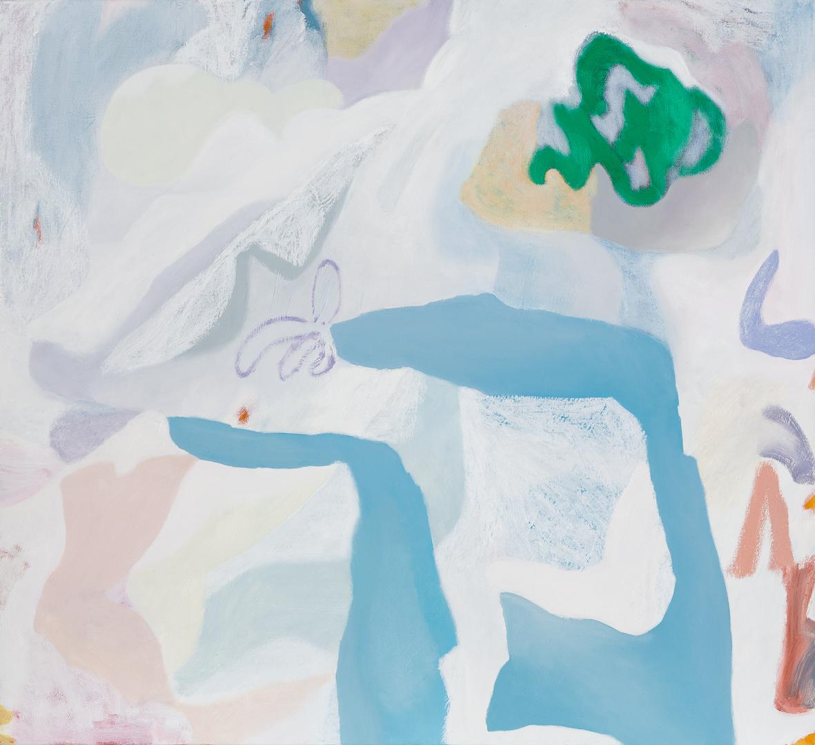 TONEE MESSIAH  White Noise Shuffle  2018 Oil on linen  76 x 84 cm