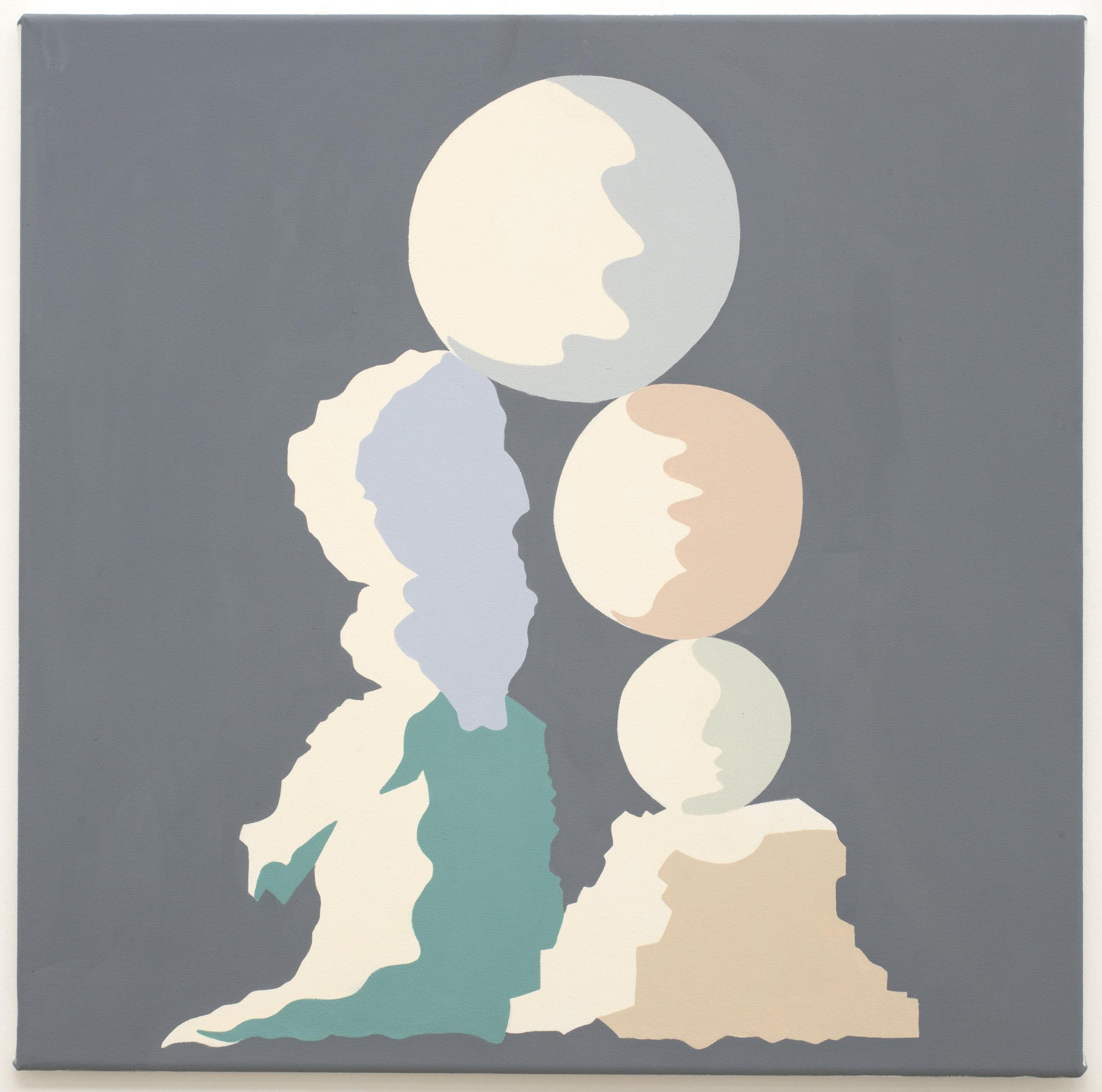 MICHELLE HANLIN  Act  2018 vinyl paint on canvas 61 x 61 cm