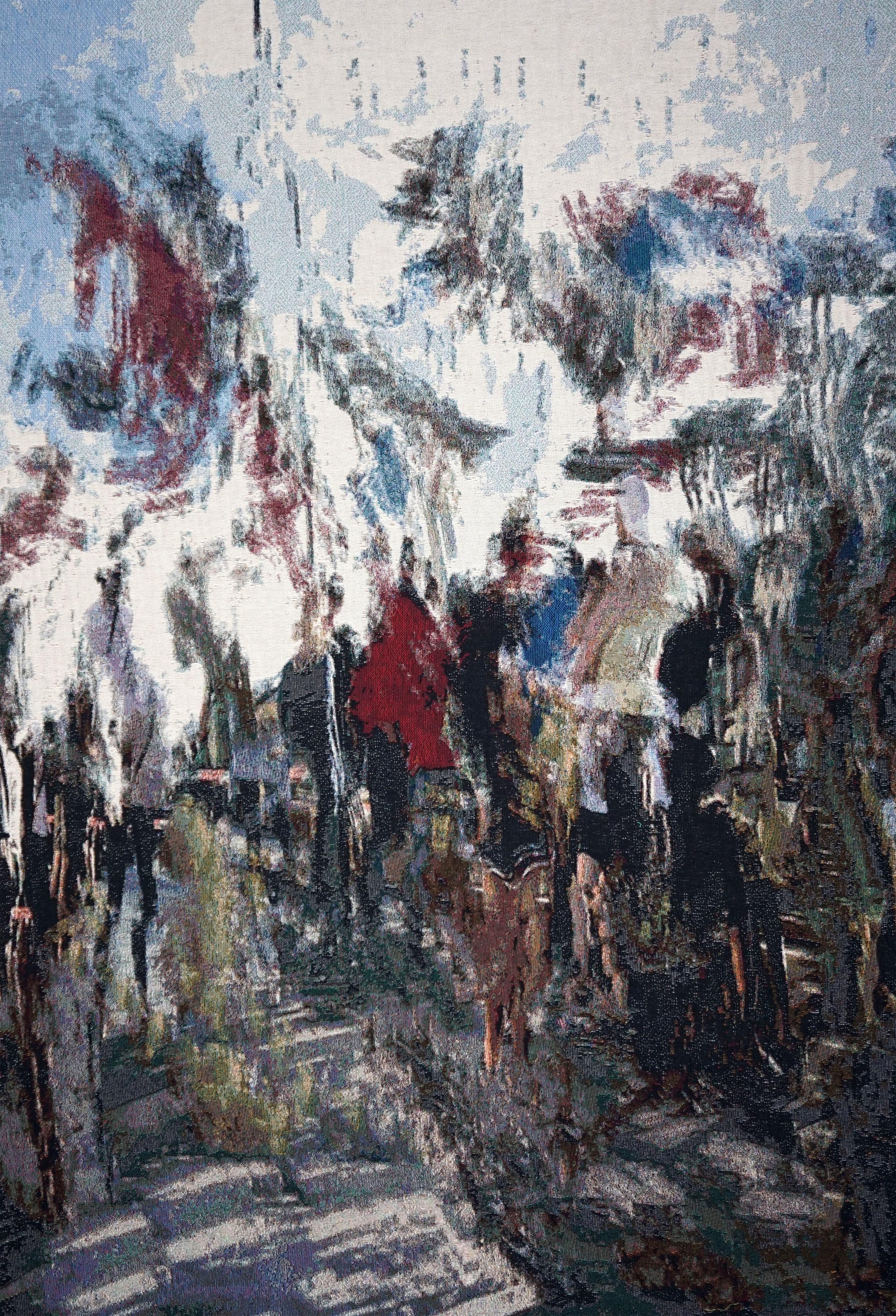 "RY DAVID BRADLEY  EU4C(""z< , 2018 Dye Cotton Tapestry  190cm x 140cm"