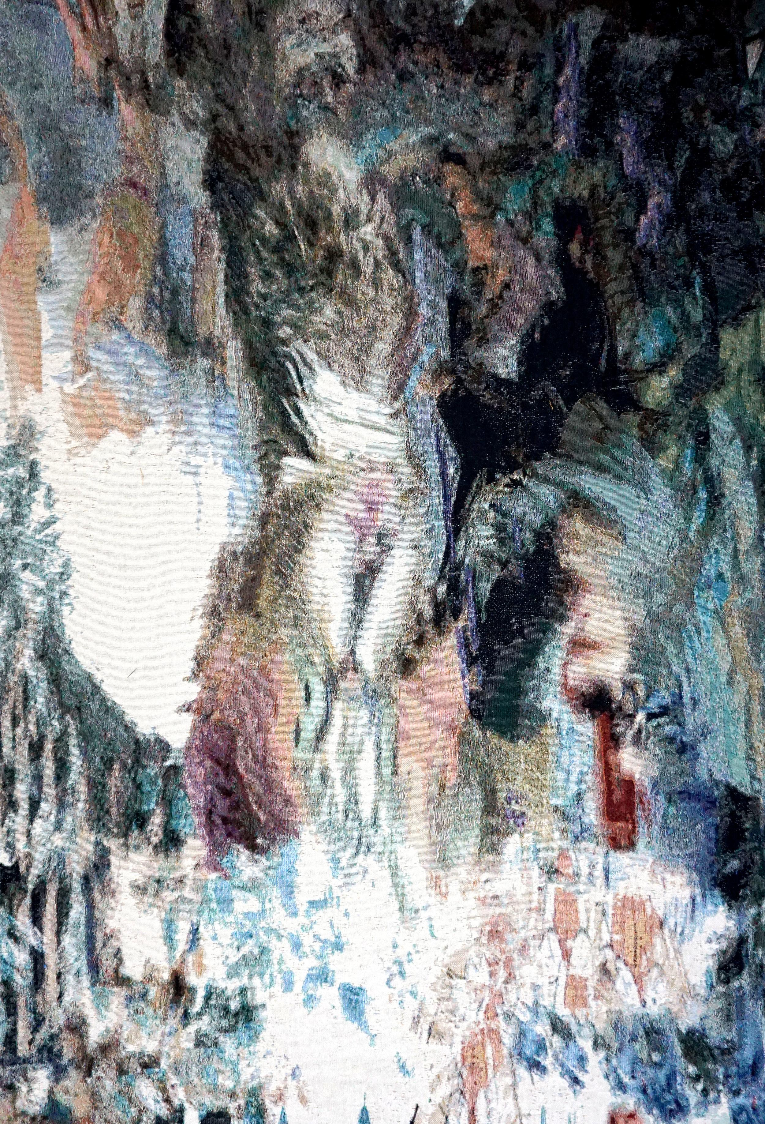 RY DAVID BRADLEY  y{]{ER3K , 2018 Dye Cotton Tapestry  190cm x 140cm