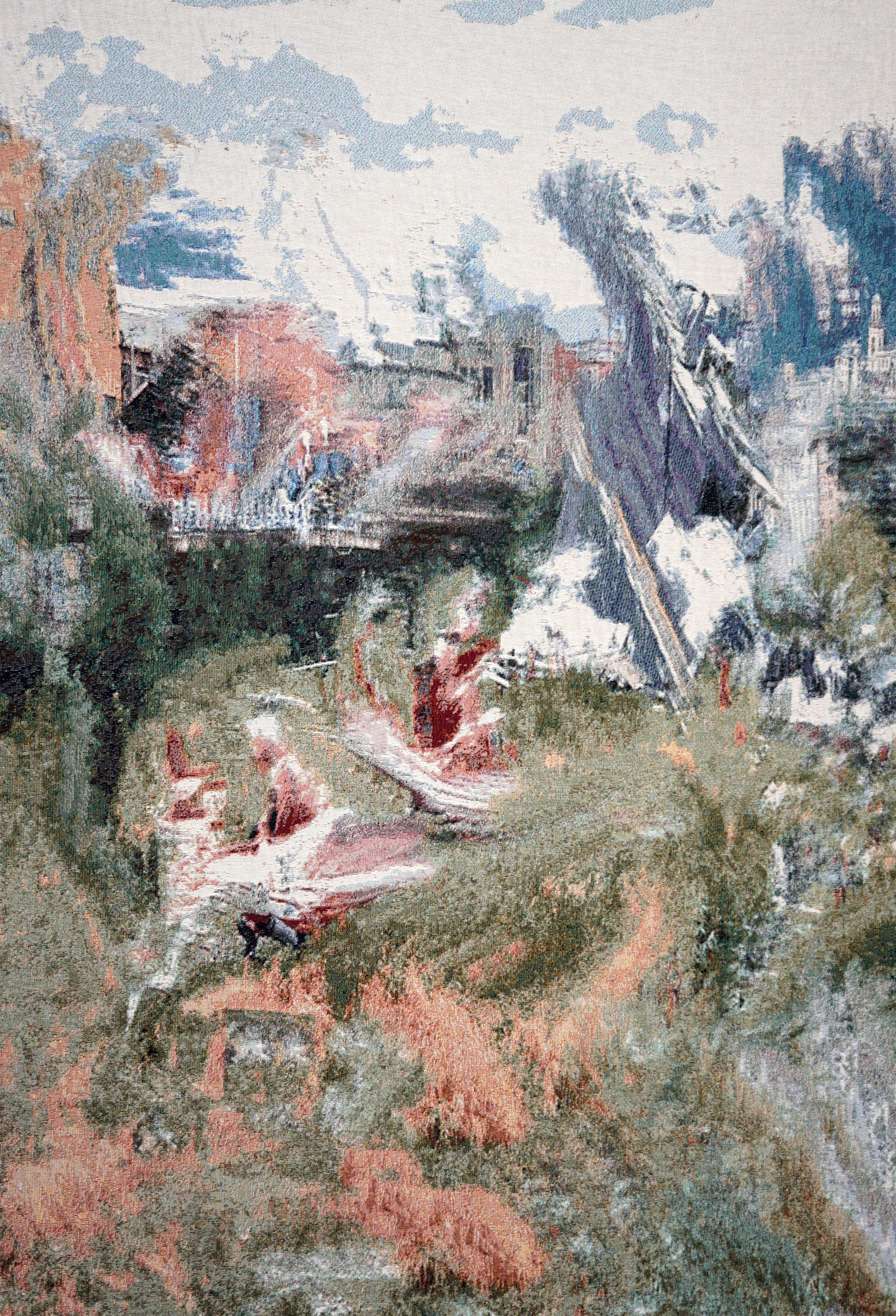 RY DAVID BRADLEY  *Ez_tC6d , 2018 Dye Cotton Tapestry  190cm x 140cm