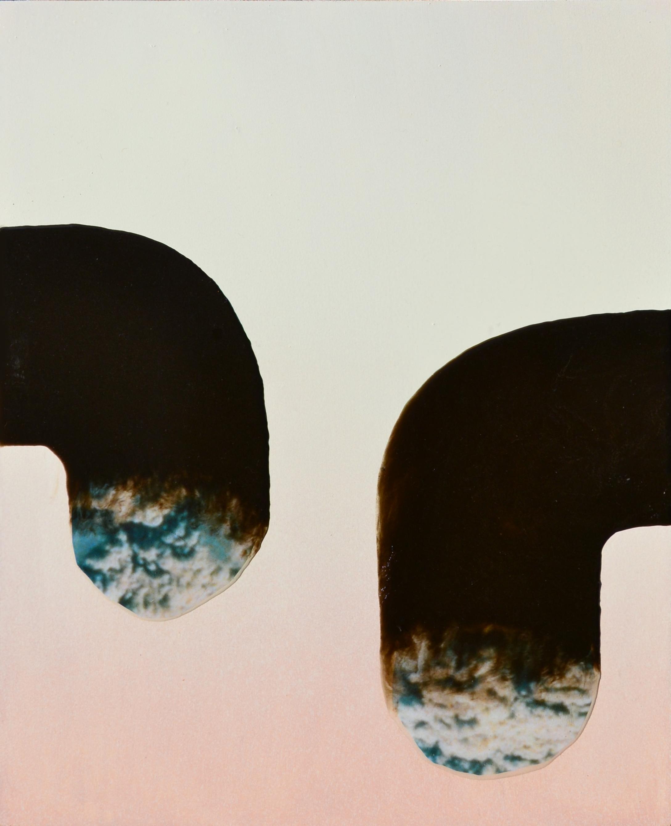 ELOISE KIRK  Slide Rock 2018 collage and resin on gesso primed board 40 ×50 cm