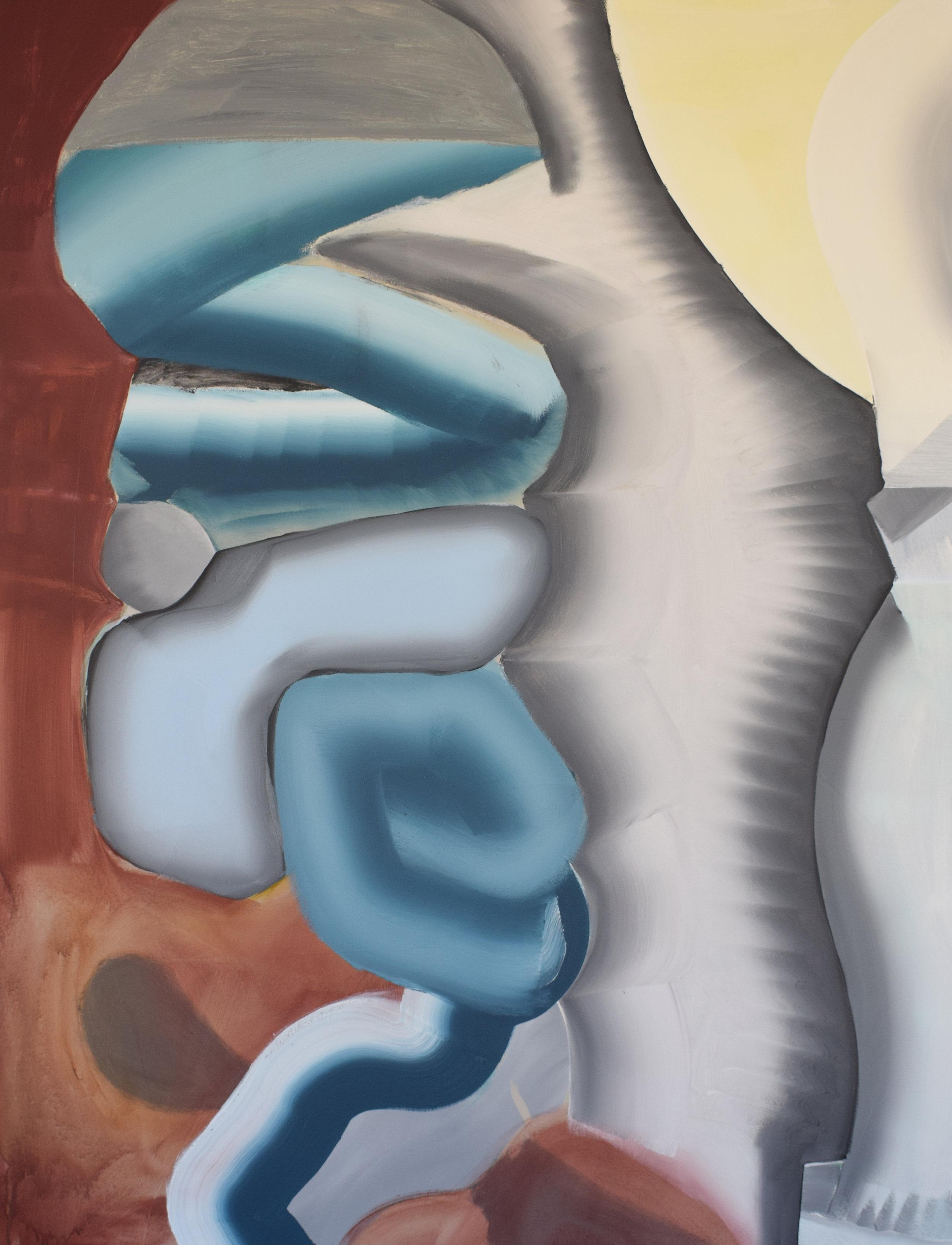 REECE KING  Felix  2018 acrylic/enamel on canvas 170 × 130 cm