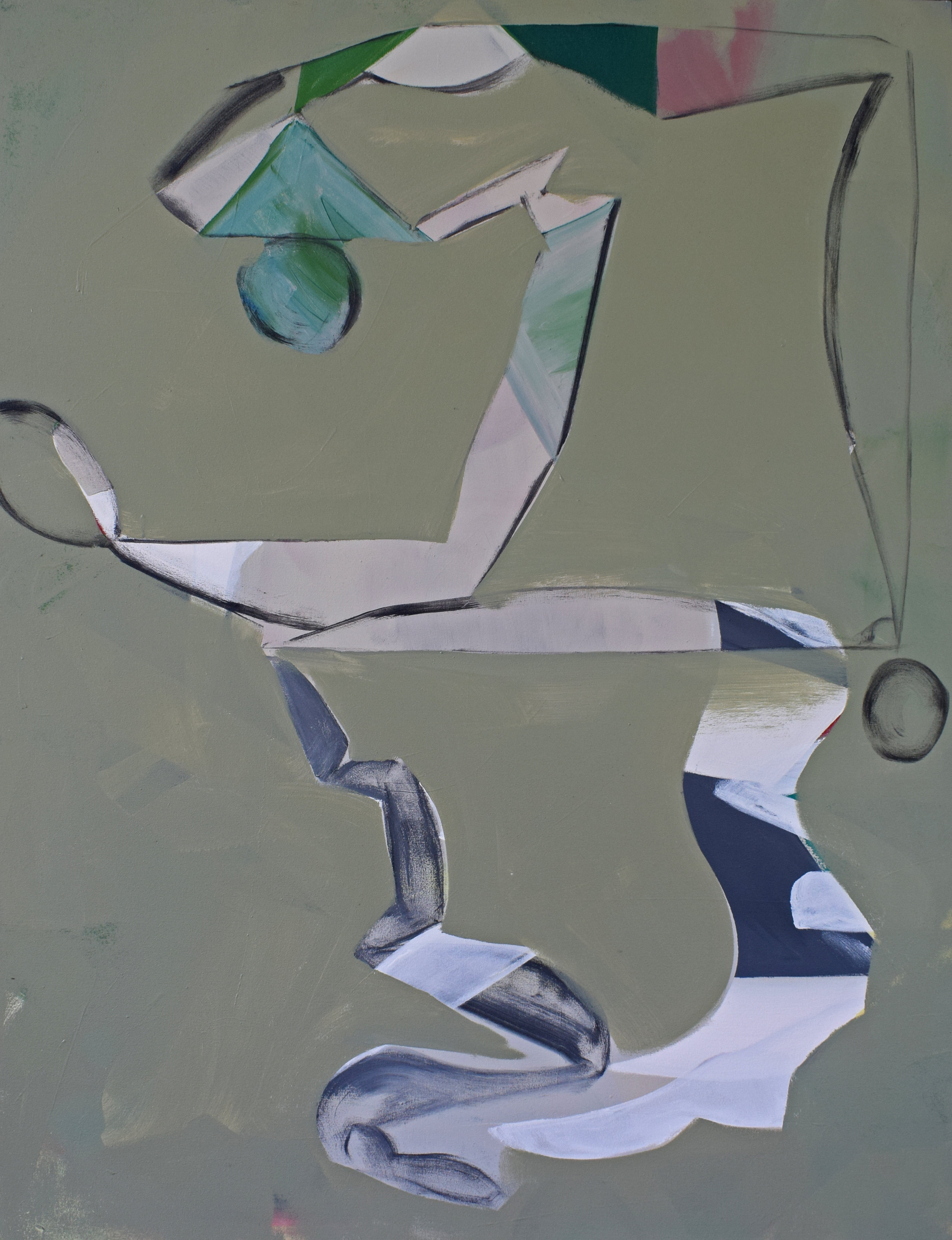 REECE KING  Goomp  2018 acrylic/enamel on canvas 170 × 130 cm