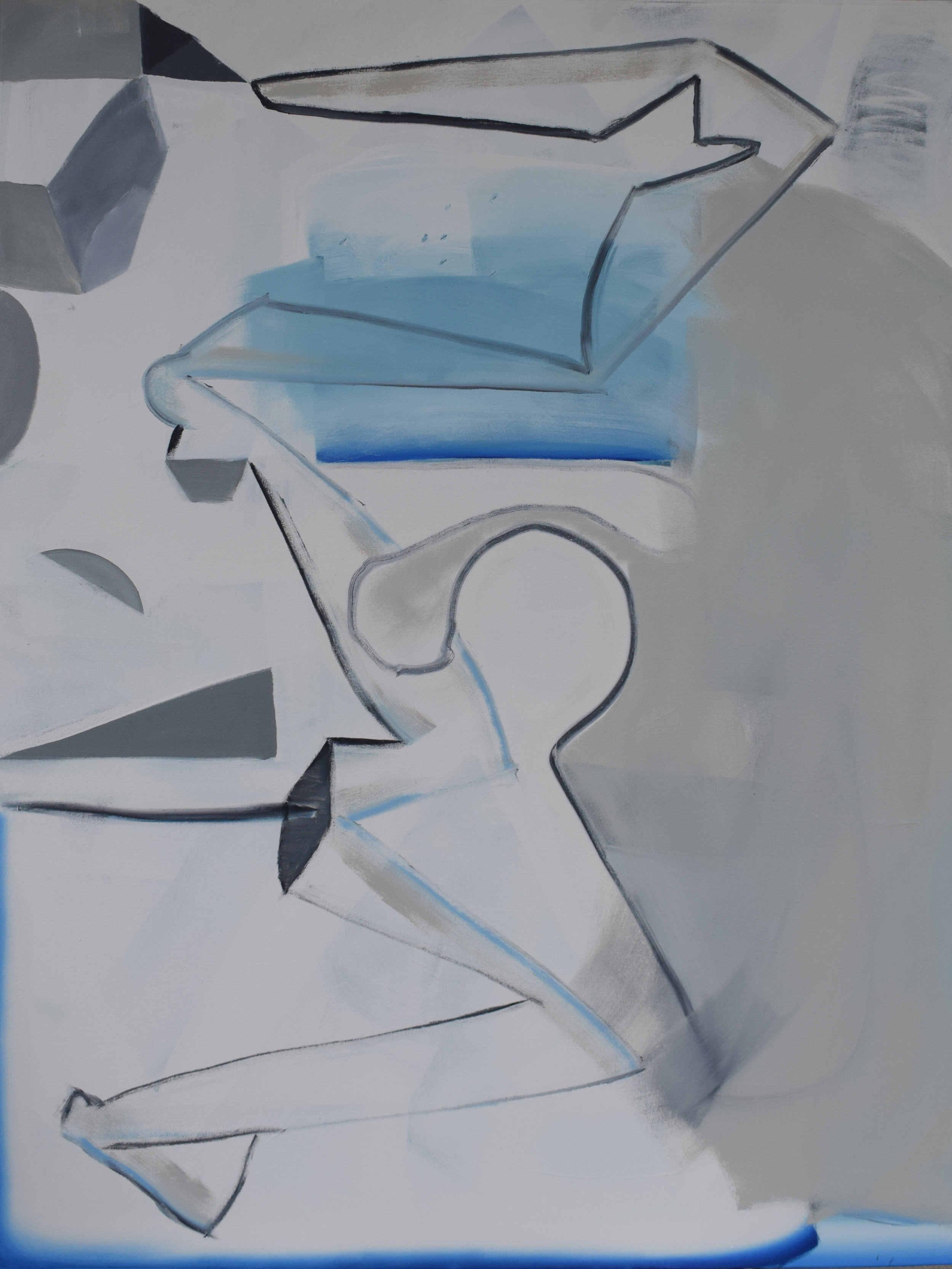 REECE KING  Second Announcement  2018 acrylic/enamel on canvas 170 × 130 cm