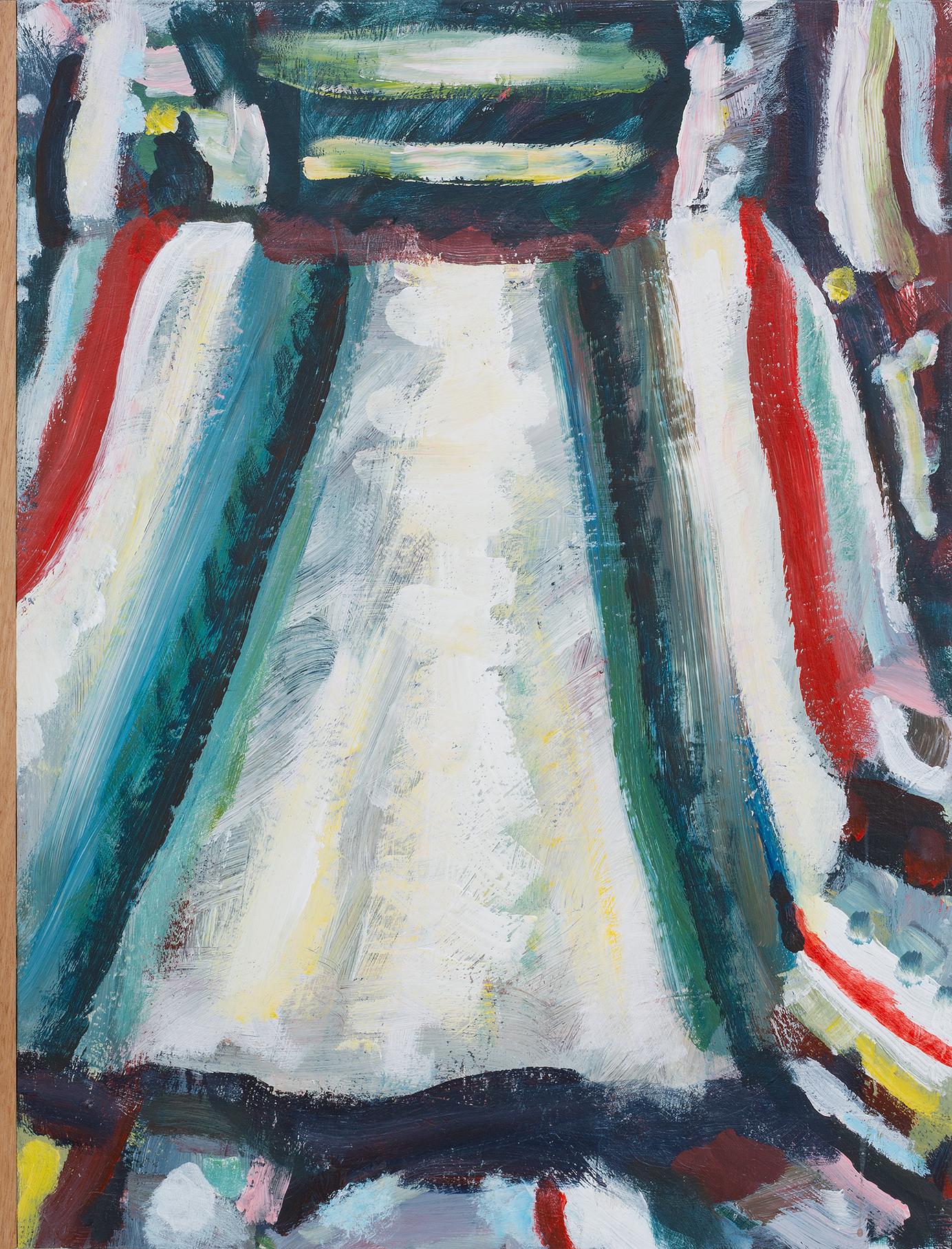 SIMON BLAU  Skirt  2019 acrylic on board 61 × 46.7 cm