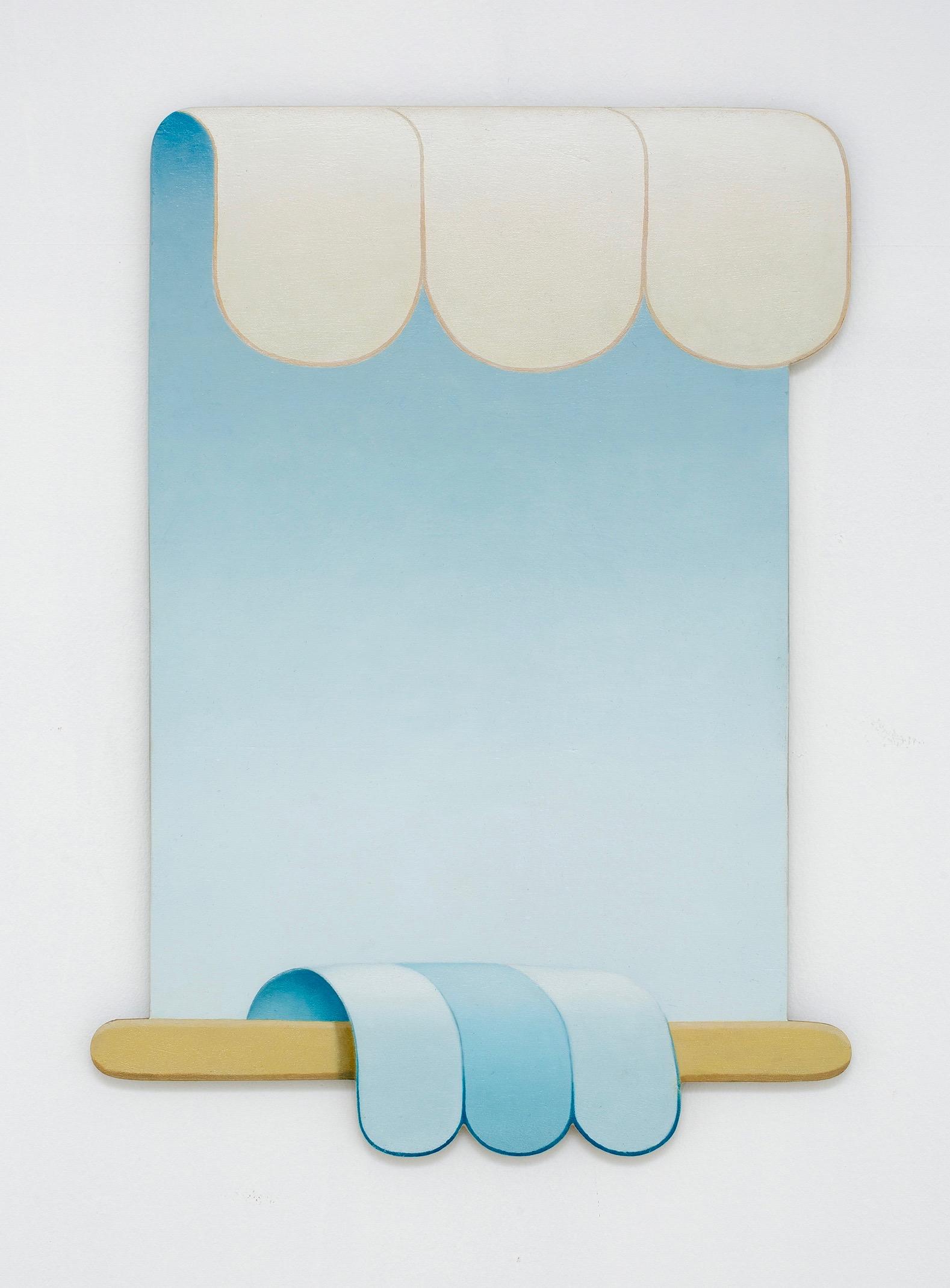 ADRIAN HOBBS Good Ancestor 2018 oil on hand-shaped ply 59.5 × 43 cm