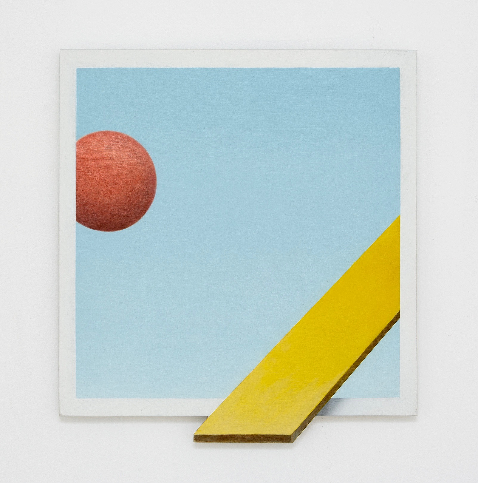 ADRIAN HOBBS Outer Space 2018 oil on hand-shaped ply 35.5 × 32 cm