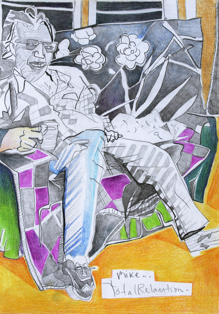 Total Relaxation  275mm H x 205mm W  Aquarelle & Graphite pencil on Paper