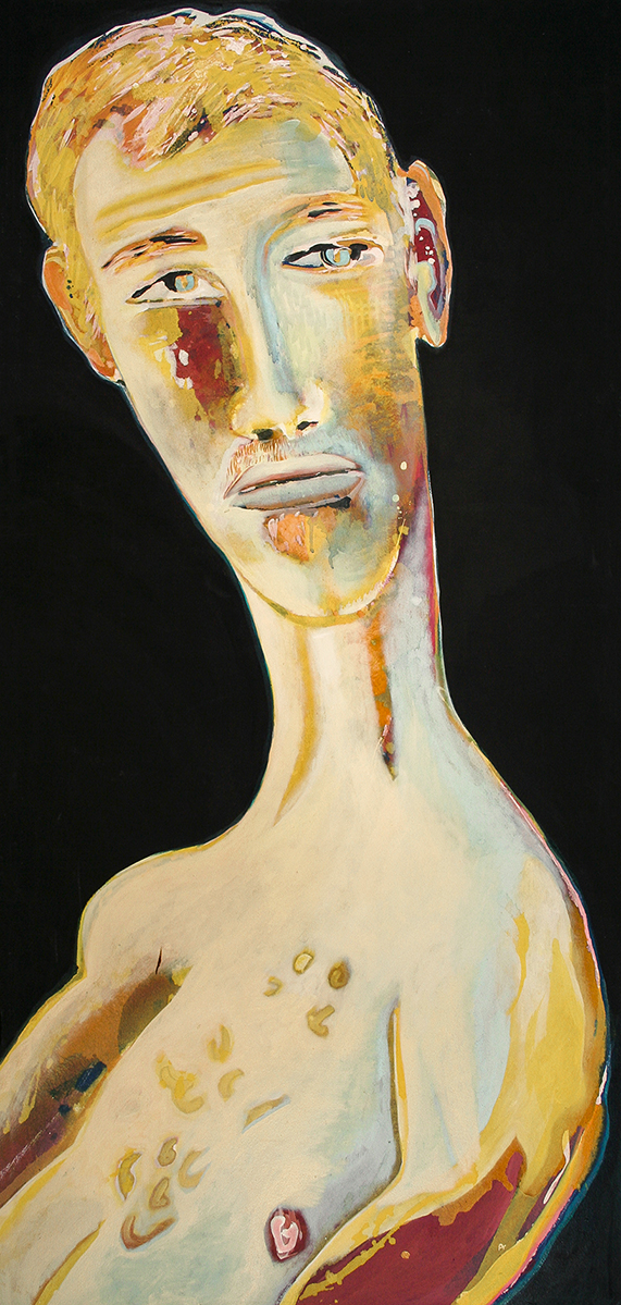 Summer Portrait (Garth)  1640mm h 770 W  Acrylic and Oil on canvas