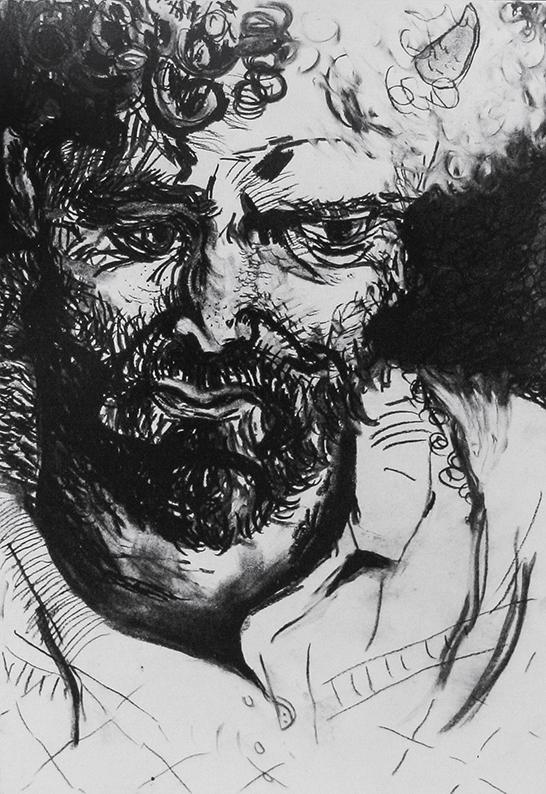 John Greeuw  550mm H x 350mm W  Charcoal on Paper,  London,1989