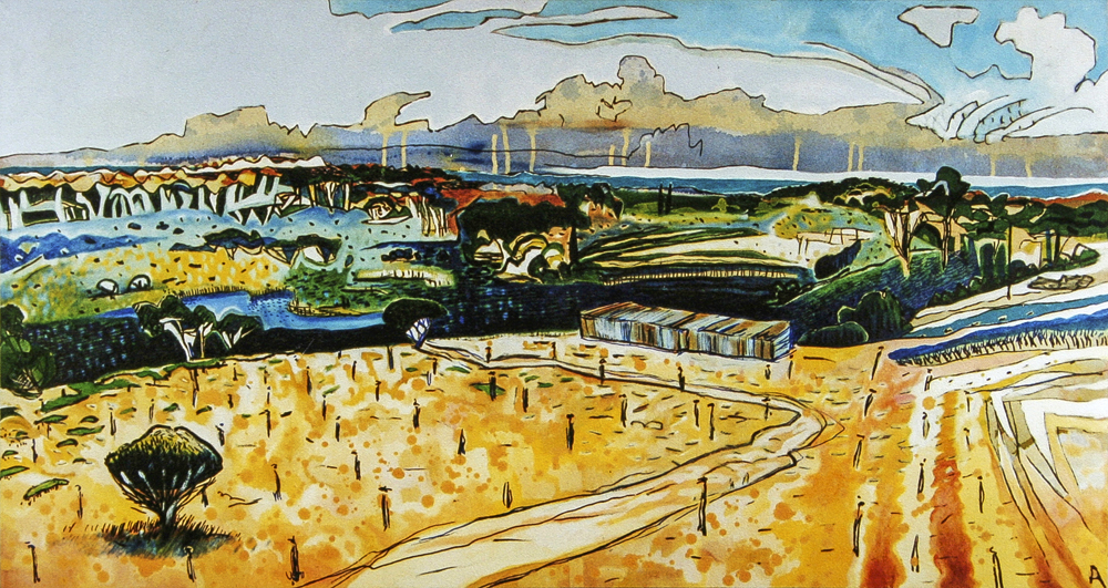 Wanneroo  500 mm H x 960 mm W ~  Oil and Mixed Media on Canvas