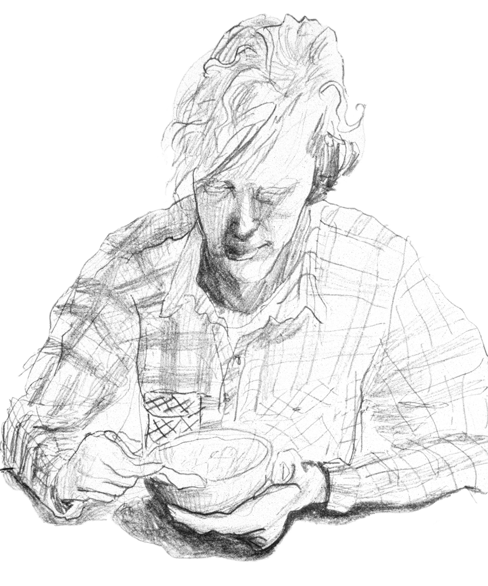 Garth (Soup Kitchen)   {From 'The Redheads'}  320mm H x 230mm W  Graphite Pencil on Paper  Sold - Yang Jin Yong