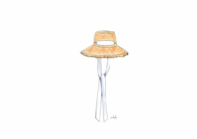 Zimmermann  / Frayed Edge Straw Hat