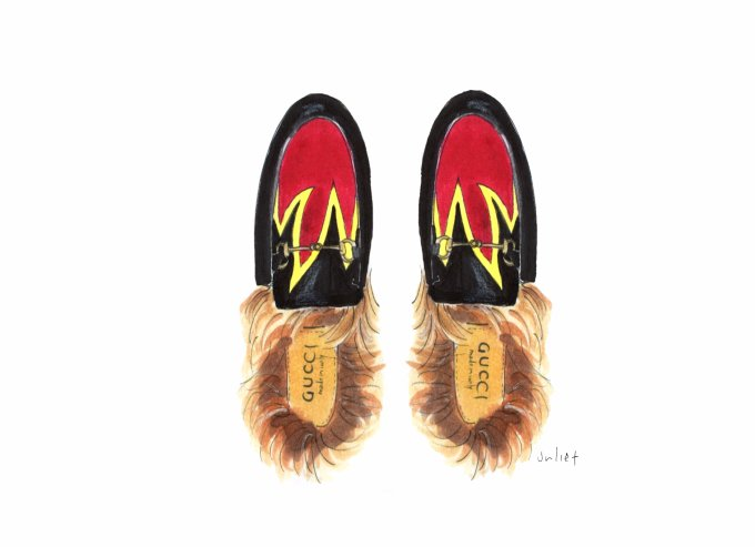 GUCCI  - Princetown Leather Slipper