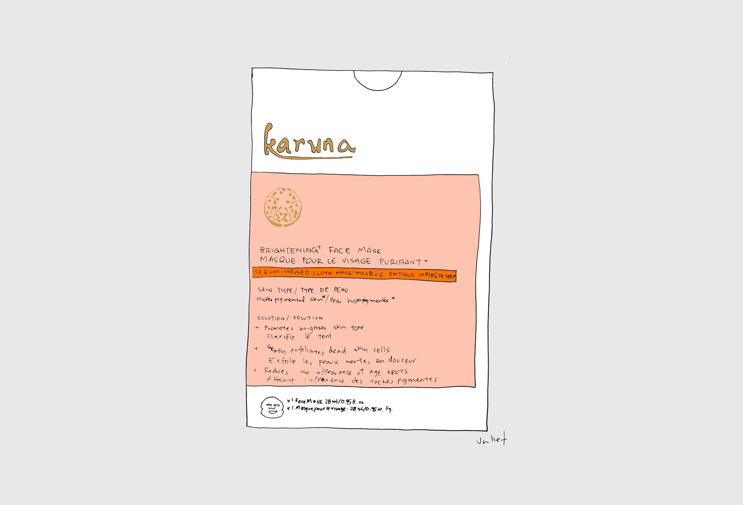 karuna brighening face mask_the juliet report