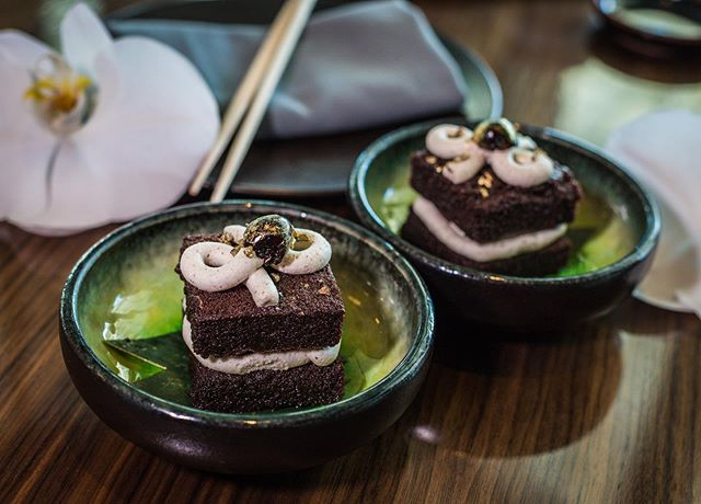 Keep calm with our 3-course #BusinessLunch menu ($23) 🥢 Save room for Umeshu Black Forest Cake. #StormWatch