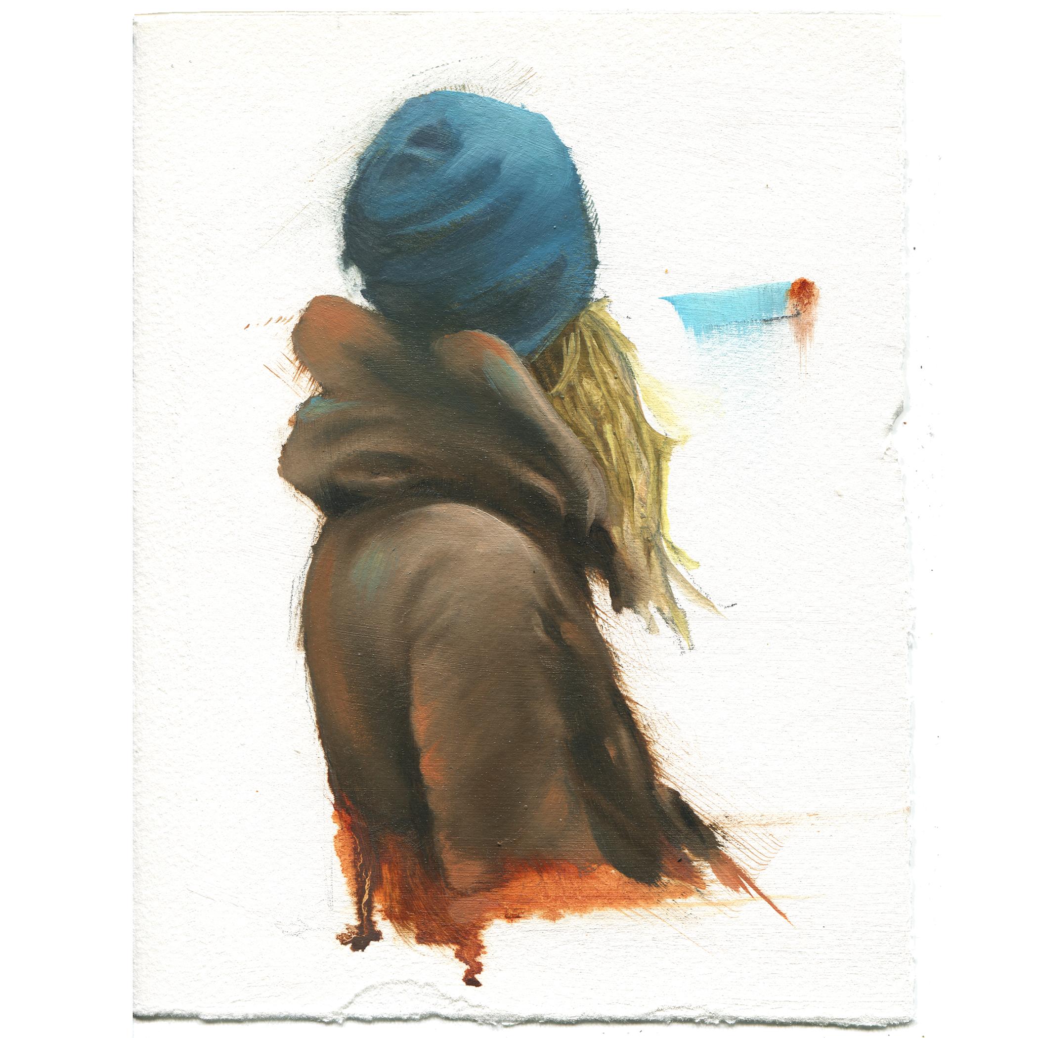 """hoodie - oil on paper - 5""""x7"""""""