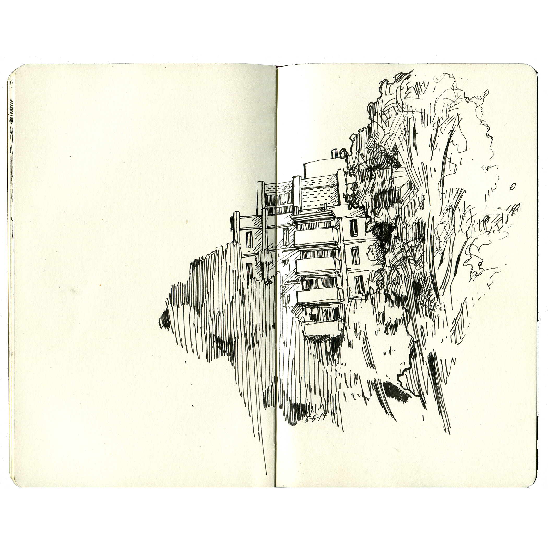 before the sun drops - ink in moleskine
