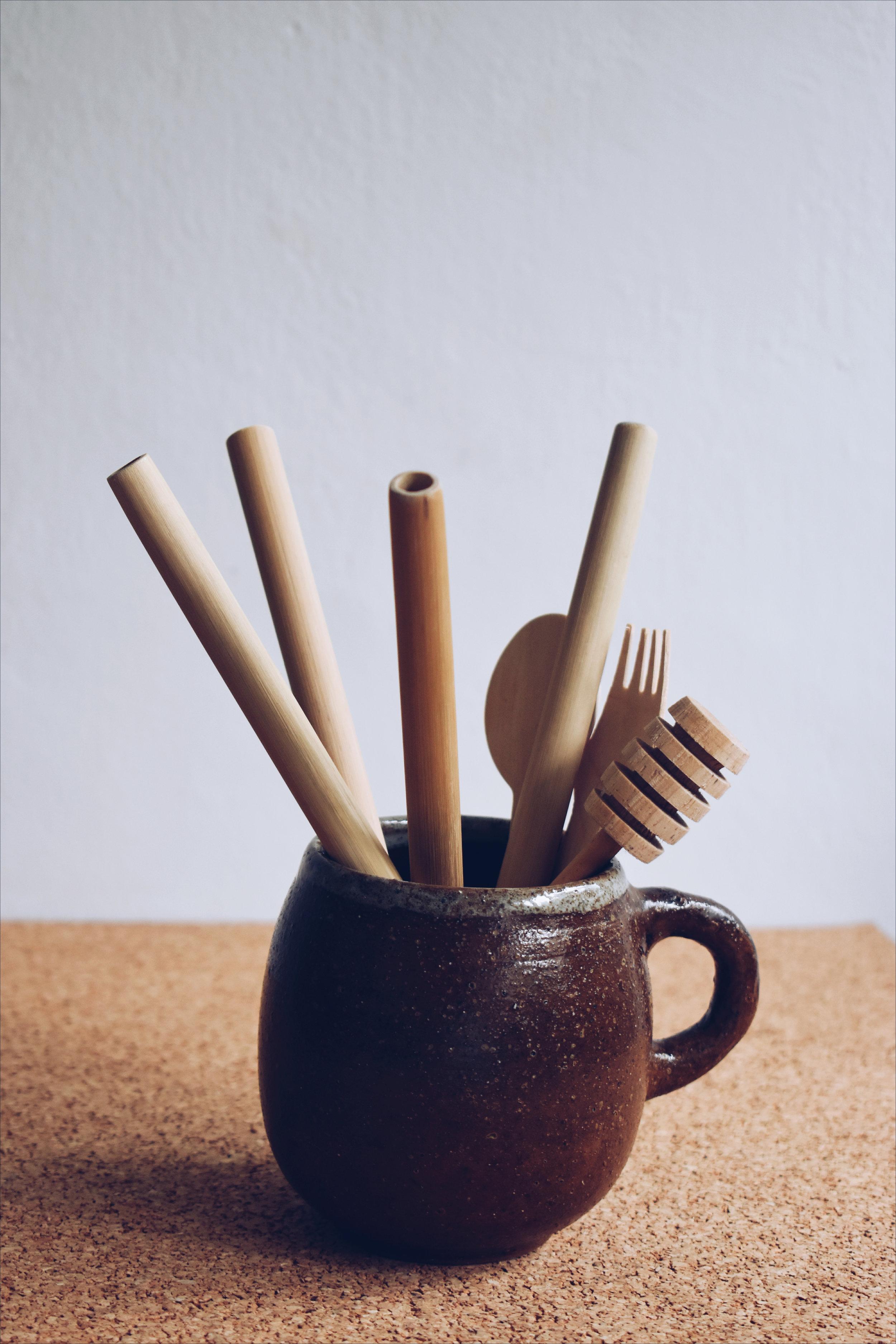 Bamboo drinking straws