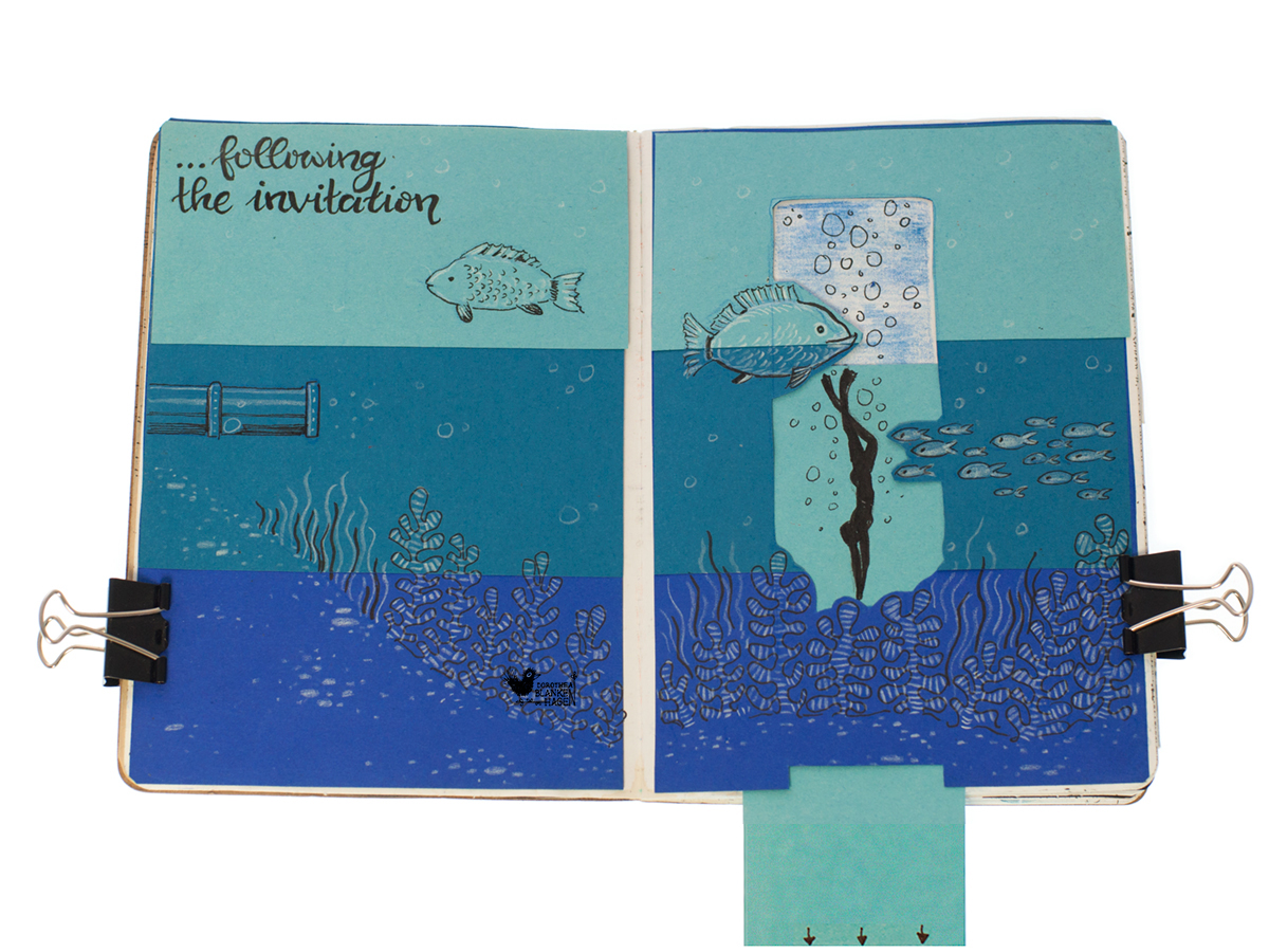 … schwamm ich tief hinab bis zum Meeresgrund.