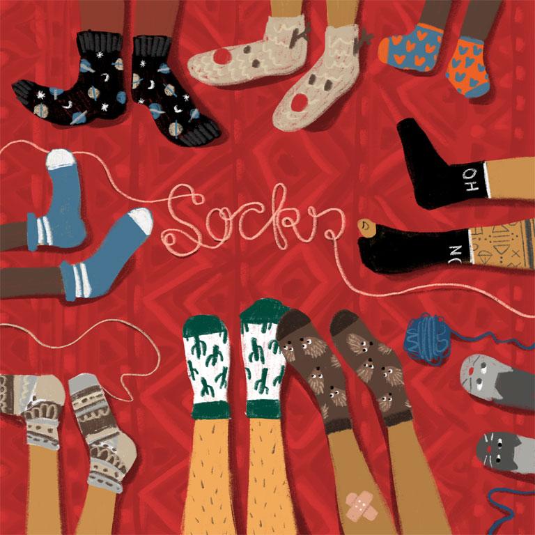 Socken (Einzelbild)