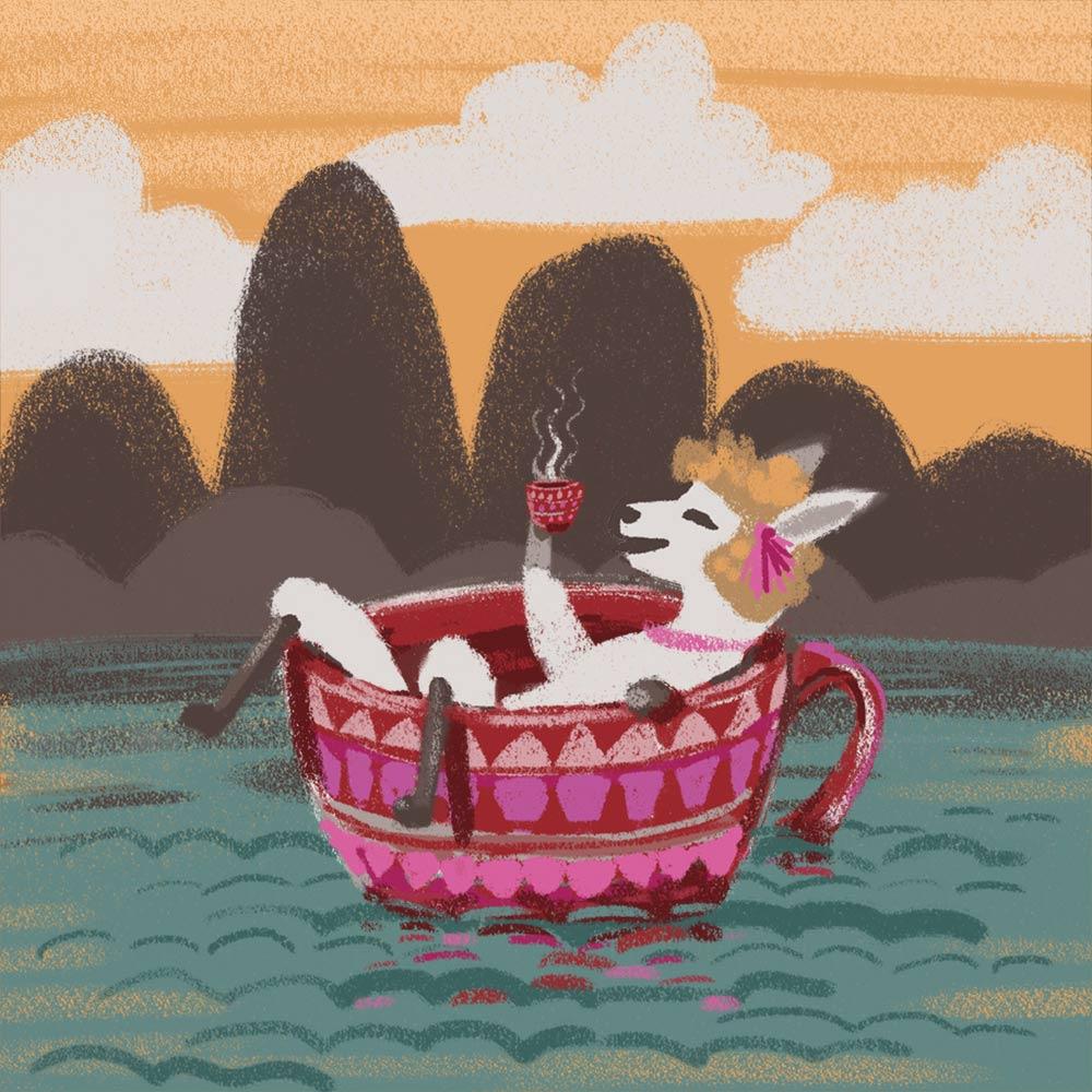 Lama mit Hochlandkaffee