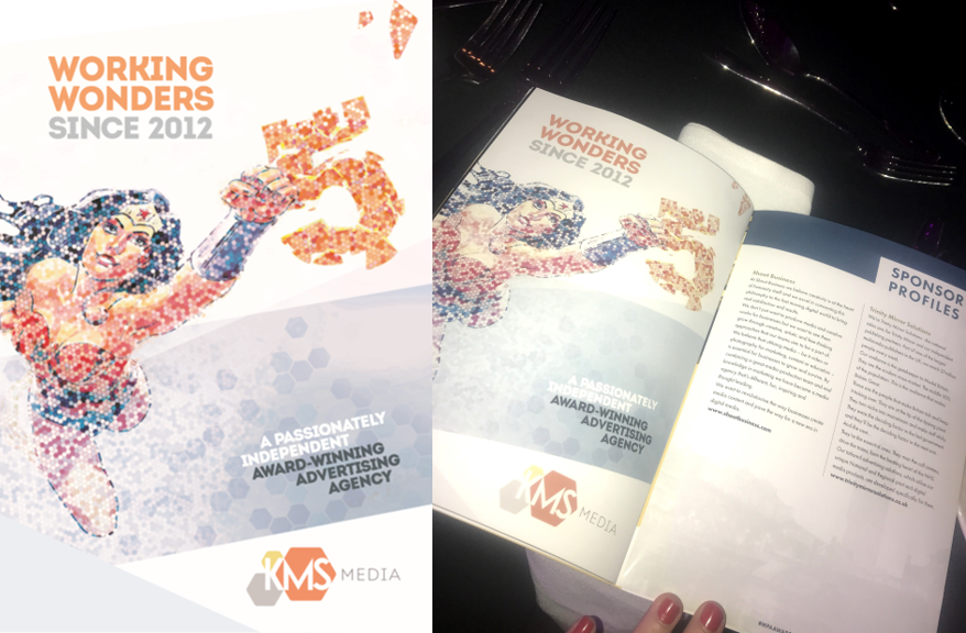 As part of KMS Media's fifth birthday announcement, we sponsored the 2017 MPA Inspiration Awards and included a wonder woman themed info-ad in the brochure.